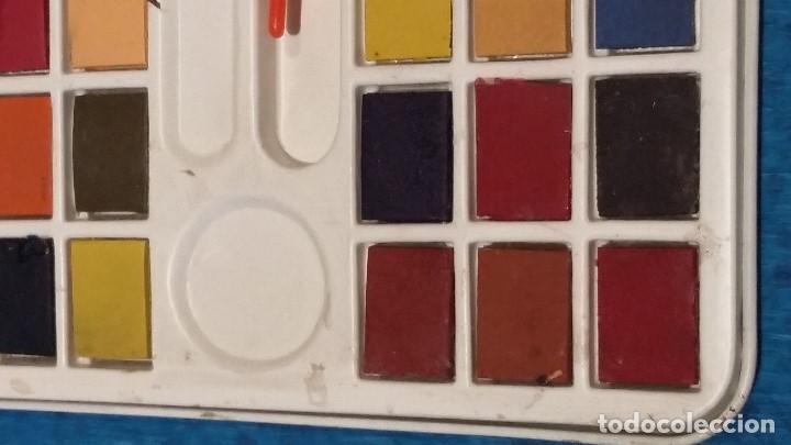 Vintage: Caja de acuarelas metalica decorada años 80. - Foto 10 - 158501830