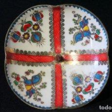 Vintage: CANDELERO-SOUVENIR DE ESMALTE SOBRE METAL ¿TRABAJO SUECO? H. 1960 CABALLO DE DALÄHAST.. Lote 158692898