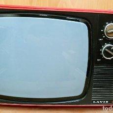 Vintage: TELEVISOR ROJO LAVIS 612 BLANCO Y NEGRO 12 PULGADAS VINTAGE. Lote 158959986