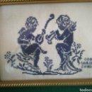 Vintage: PEQUEÑO CUADRO EN PUNTO DE CRUZ. Lote 159053529