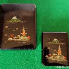 Vintage: 2 CAJAS O JOYEROS JAPON, NUEVAS, SIN USAR. Lote 159235098