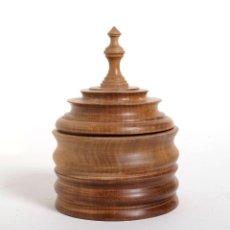 Vintage - Antigua Caja de madera torneada - 159429362