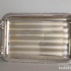 Vintage: BANDEJA DE ALPACA CON ASAS, 22X40CM. Lote 159452002