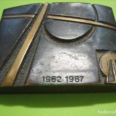 Vintage: ANTIGUA PUBLICIDAD EN BRONCE DE CORVIAM 1962-1982. Lote 159517566