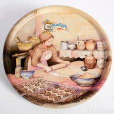 Vintage: BANDEJA METÁLICA DE MOLINO BLANCO DE BARILLA 26CM. Lote 159593690