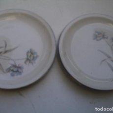 Vintage: 9 PLATOS DE PONTESA MADE IN SPAIN. Lote 159875302