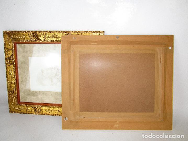 Vintage: PRECIOSO LOTE DE MARCOS DE MADERA DORADOS IDEAL PINTURAS OLEOS VINTAGE CON AGELOTES Y LAMINAS - Foto 5 - 160167390