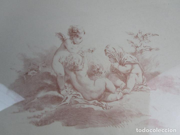 Vintage: PRECIOSO LOTE DE MARCOS DE MADERA DORADOS IDEAL PINTURAS OLEOS VINTAGE CON AGELOTES Y LAMINAS - Foto 6 - 160167390
