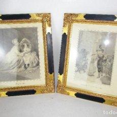Vintage: PRECIOSO LOTE DE MARCOS DE MADERA DORADOS IDEAL PINTURAS OLEOS VINTAGE . Lote 160167870