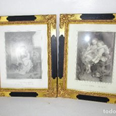 Vintage: PRECIOSO LOTE DE MARCOS DE MADERA DORADOS IDEAL PINTURAS OLEOS VINTAGE . Lote 160167958