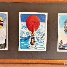Vintage: CUADRO DECORATIVO MOTIVO: GLOBOS AEROSTÁTICOS / 52 X 25 CM / BUENA CONSERVACIÓN.. Lote 160354098