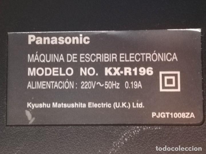 Vintage: Máquina de escribir electrónica Panasonic KX-R196 - Foto 8 - 160628330