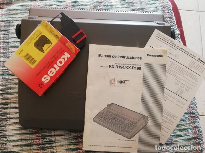 Vintage: Máquina de escribir electrónica Panasonic KX-R196 - Foto 9 - 160628330