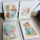 Vintage: 4 CUADROS INFANTILES. Lote 160756426