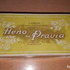 Vintage: ANTIGUA CAJA CON JABONES HENO DE PRAVIA. Lote 160870178