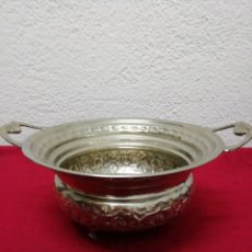 Vintage: RECIPIENTE DECORATIVO PLATEADO. Lote 160925384