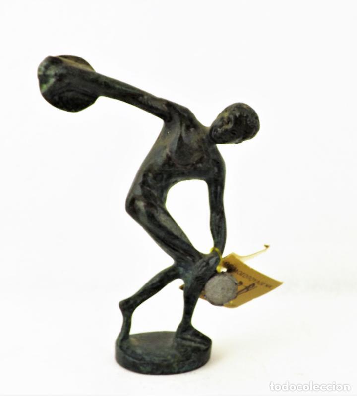 Vintage: Figura Bronce El Discóbolo. Reproducción museo - Foto 2 - 161348750