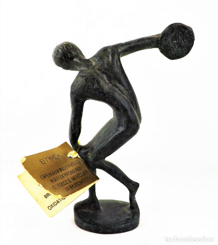 Vintage: Figura Bronce El Discóbolo. Reproducción museo - Foto 3 - 161348750