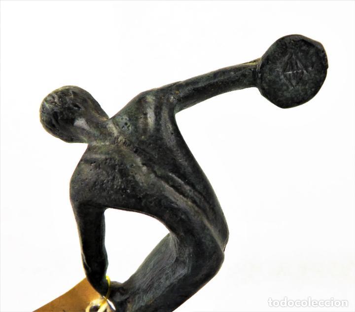 Vintage: Figura Bronce El Discóbolo. Reproducción museo - Foto 4 - 161348750