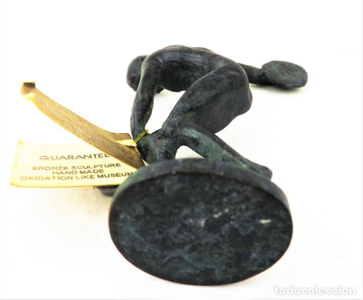 Vintage: Figura Bronce El Discóbolo. Reproducción museo - Foto 6 - 161348750