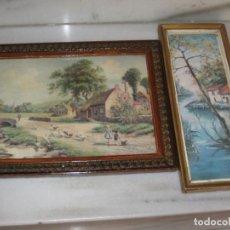 Vintage: LOTE DE 2 CUADROS ANTIGUOS. Lote 161932290