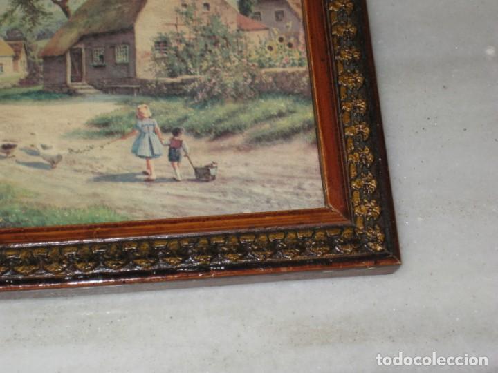 Vintage: Lote de 2 cuadros antiguos - Foto 3 - 161932290