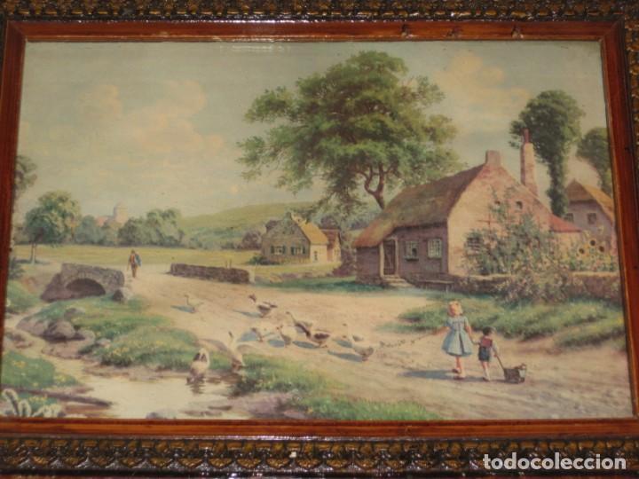 Vintage: Lote de 2 cuadros antiguos - Foto 4 - 161932290