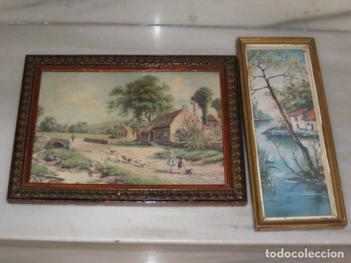 Vintage: Lote de 2 cuadros antiguos - Foto 11 - 161932290
