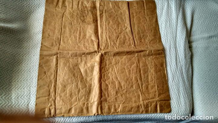 Vintage: Tapete, cogín, o.... simil terciopelo estampado 45 cm .Francés. Sin uso mitad S XX - Foto 2 - 162123942