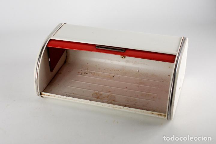Vintage: panera metálica rojo blanco Francia 70's vintage retro - Foto 3 - 162206170