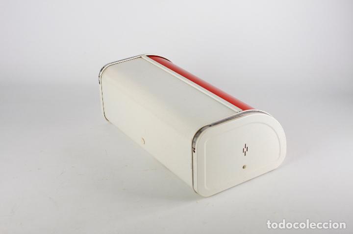 Vintage: panera metálica rojo blanco Francia 70's vintage retro - Foto 5 - 162206170