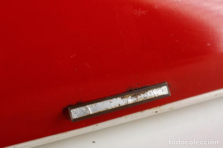Vintage: panera metálica rojo blanco Francia 70's vintage retro - Foto 4 - 162206170