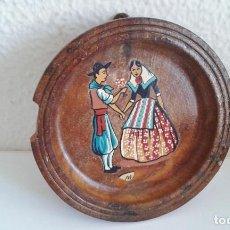 Vintage: PLATO DE MADERA RECUERDO DE MALLORCA. RETRO VINTAGE. AÑOS 60-70. Lote 162487030