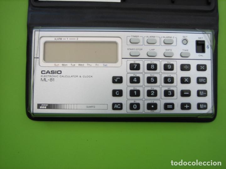 Vintage: Antigua calculadora Casio ML-85. Funciona. Falta pila - Foto 2 - 161713250