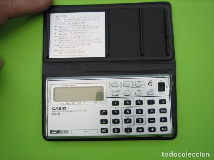 Vintage: Antigua calculadora Casio ML-85. Funciona. Falta pila - Foto 4 - 161713250