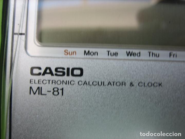 Vintage: Antigua calculadora Casio ML-85. Funciona. Falta pila - Foto 6 - 161713250