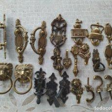 Vintage: LOTE DE TIRADORES Y COLGADORES. Lote 162651534