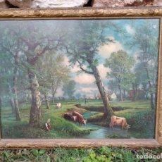 Vintage: CUADRO CON BONITO MARCO. Lote 162854774