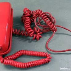 Vintage: TELÉFONO GÓNDOLA CITESA SOBREMESA COLOR ROJO AÑOS 70. Lote 162935714