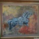 Vintage: BONITO CUADRO CON CABALLO DECORATIVO. Lote 163678922