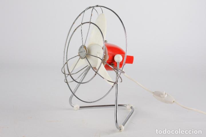 Vintage: Ventilador FOURNITEC Italia rojo años 70 vintage funciona 220v - Foto 5 - 163720778