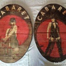 Vintage: CARTEL MADERA RETRO - CABARET -. Lote 163817718