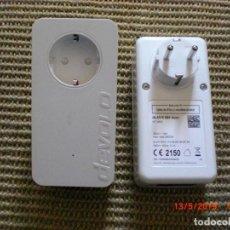 Vintage: ADAPTADOR DEVOLO DLAN 550 DUO+ (500 MBIT/S DE VELOCIDAD DE RED, 2 PUER LAN, CARCASA COMPACTA RED. Lote 164450026