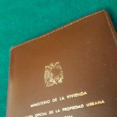 Vintage: CARTERA MINISTERIO DE LA VIVIENDA FRANCISCO FRANCO BARCELONA 1960. Lote 164555222