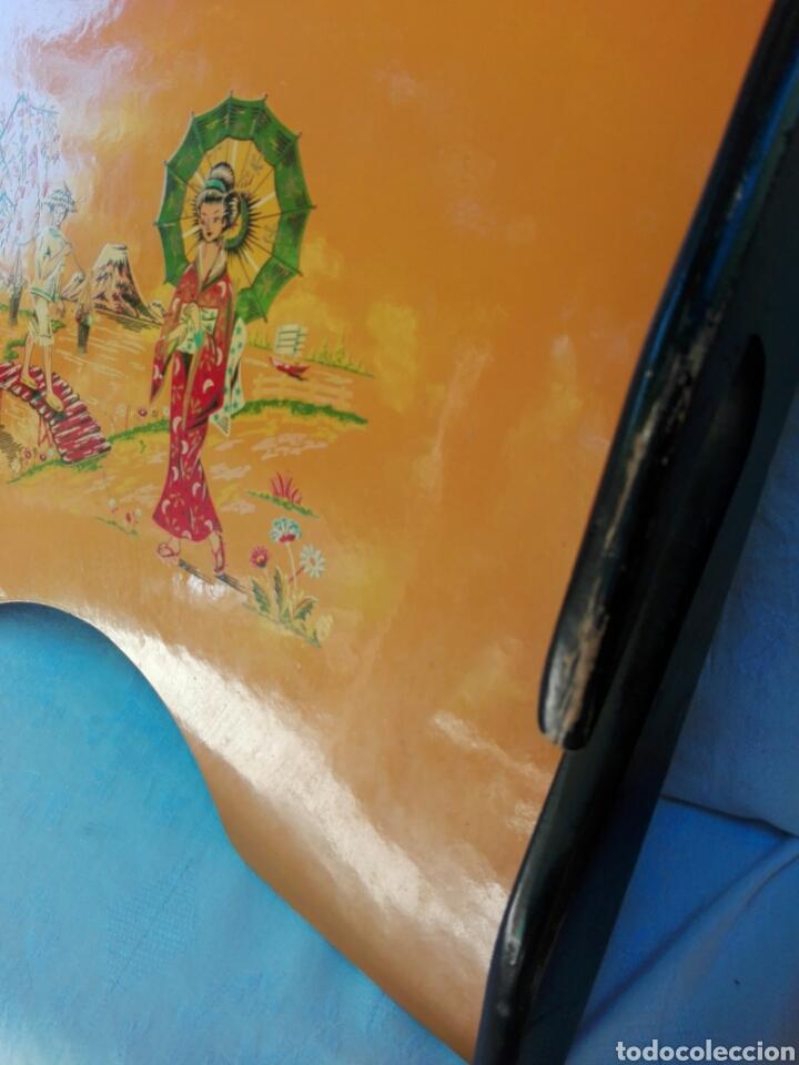 Vintage: Gran bandeja madera camarera para sofá o cama motivos orientales auténtica retro vintage años 70 - Foto 4 - 164895244