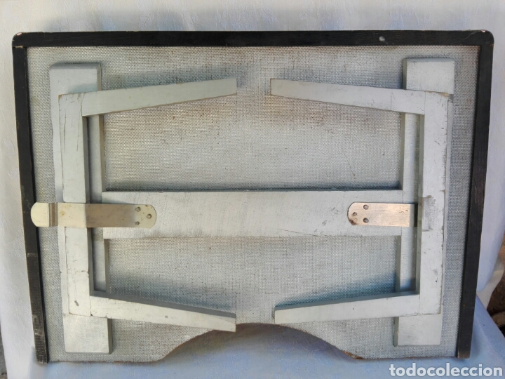 Vintage: Gran bandeja madera camarera para sofá o cama motivos orientales auténtica retro vintage años 70 - Foto 6 - 164895244