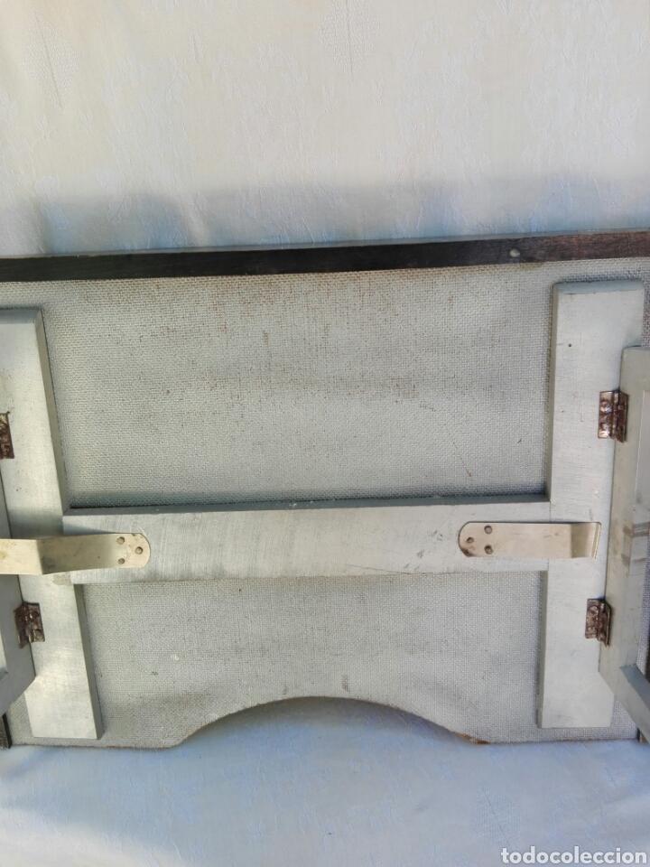 Vintage: Gran bandeja madera camarera para sofá o cama motivos orientales auténtica retro vintage años 70 - Foto 7 - 164895244