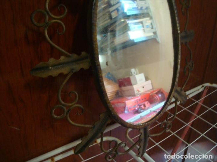 Vintage: espejo tipo sol hojas de hierro - Foto 3 - 165379614