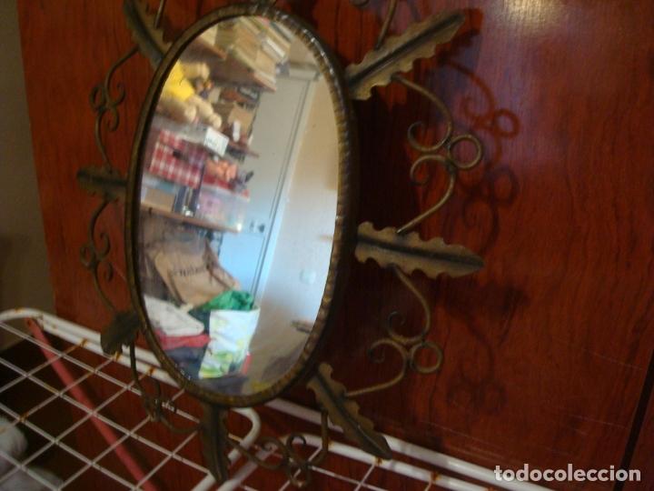 Vintage: espejo tipo sol hojas de hierro - Foto 4 - 165379614