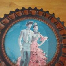 Vintage: JOYERO DE MADERA LABRADA CON DETALLE FLAMENCO. Lote 165457196